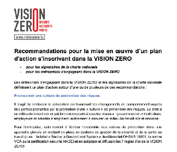 Plan d'action VISION ZERO