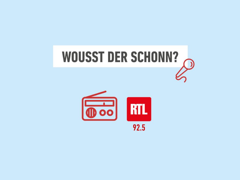 Emission «Wousst der schonn ?» sur RTL Radio